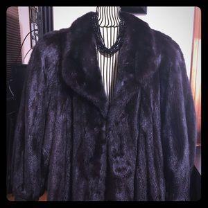 Saga Mink long coat.